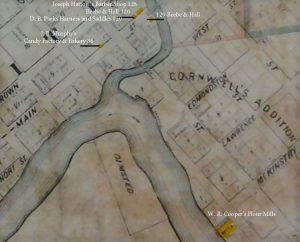 1869 map of Napa, CA.