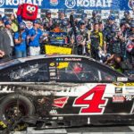 Harvick gets second season win in Las Vegas