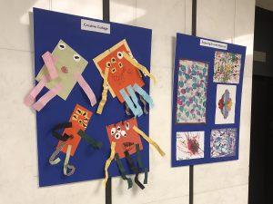 A free exhibit displays art by children